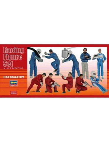 Hasegawa 20295 Racing Figure Set (10 figure parts in the box) 1/24