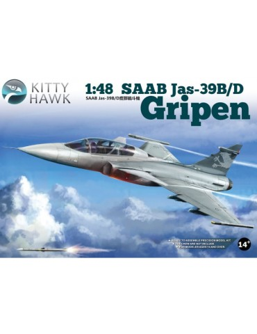 Kitty Hawk KH80118 SAAB Jas-39B/D Gripen 1/48
