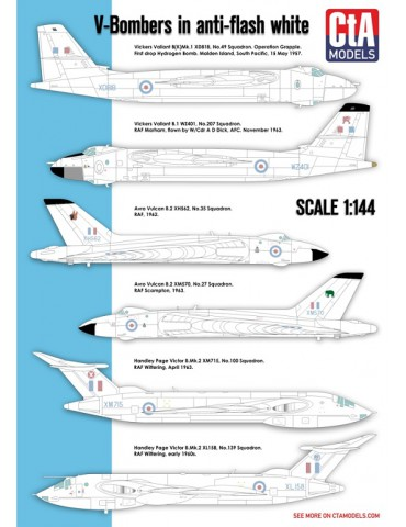 "Cut then Add CTA-002 ""V-Bombers in Anti-flash white"" 1/144"