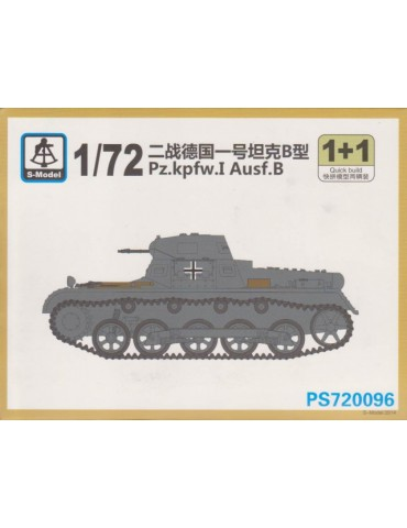 S-Model PS720096 Pz.kpfw.I Ausf.B 1+1 Quickbuild 1/72