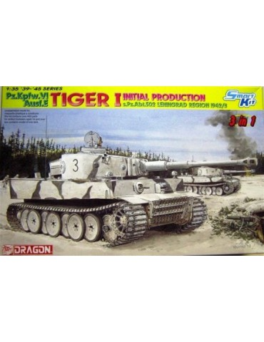 Dragon 6600 Pz.Kpfw. VI Ausf. E Tiger I Initial Production s.Pz.Abt. 502 Leningrad Region 1942/3 1/35