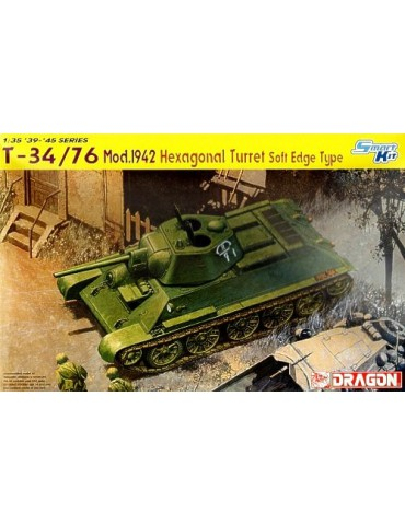 Dragon 6424 Т-34/76 образца 1942г. Hexagonal Turret Soft Edge Type 1/35
