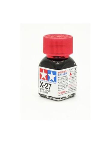 Tamiya 80027 X-27 Clear Red...