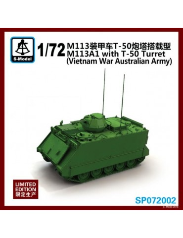 S-Model SP072002 M113A1 With T-50 Turret (vietnam War Australian Army) Limited 1/72
