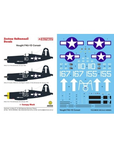 Techmod 48068 Vought F4U-1D...
