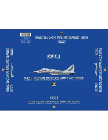 Great Wall Hobby S4811 МиГ-29 9-13 Fulcrum-C Fighter Korean People's Army Air Force 1/48