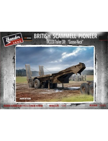 "Thunder Model 35208 British Scammell Pioneer TRCU30 Trailer 30t ""Goose-Neck"" 1/35"
