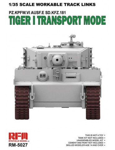Rye Field Model RM-5027 Workable Track Links Tiger I Transport Mode 1/35