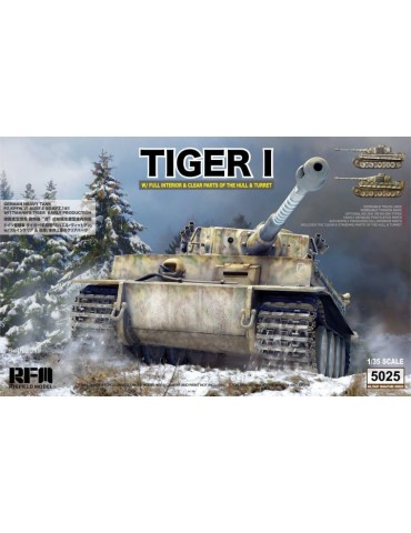 Rye Field Model RM-5025 German Tiger I Early Production Wittmann's Tiger № 504 with interior / clear parts / workable tracks1/35