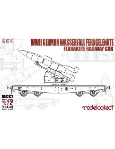 Modelcollect UA72172 WWII German Wasserfall Ferngelenkte Flakrakete Railway Car 1/72