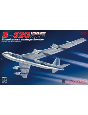 Modelcollect UA72207 B-52G Early Type U.S.A.F Stratofortress Strategic Bomber Broken Arrow 1966, with B-28 Nuclear Bomb 1/72