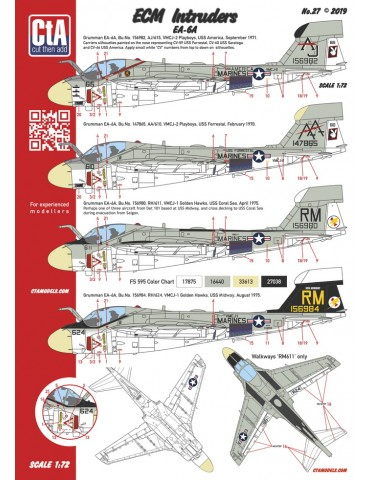 "Cut then Add CTA-027 ""ECM Intruders"" EA-6A 1/72"