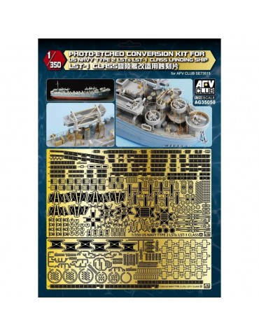 AFV Club AG35050 US Navy Type 2 LSTs LST-1 Class Landing Ship Photo-Etched Conversion Kit For LST-1 Class 1/350