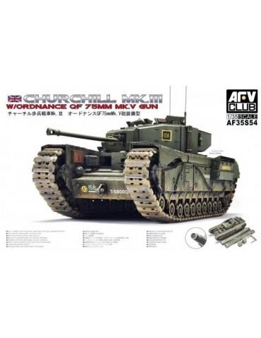 AFV Club AF35S54 Churchill Mk.III w/Ordnance QF 75mm Mk.V gun 1/35