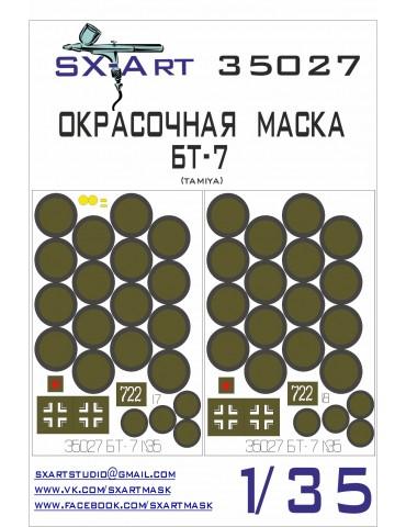 SX-Art 35027 Окрасочная маска БТ-7 (Tamiya) 1/35