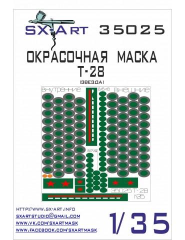 SX-Art 35025 Окрасочная маска Т-28 (Звезда) 1/35