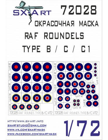 SX-Art 72028 RAF ROUNDELS...