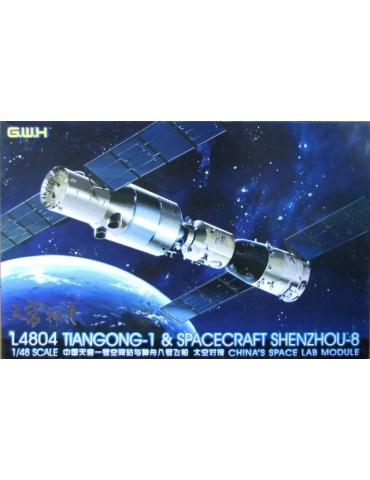 Great Wall Hobby L4804 TianGong-1 & Spacecraft ShenZhou-8 China's Space Lab Module 1/48