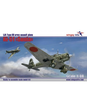 "Wingsy Kits D5-04 IJA Type 99 Assault Plane Ki-51 ""Sonia"" 1/48"