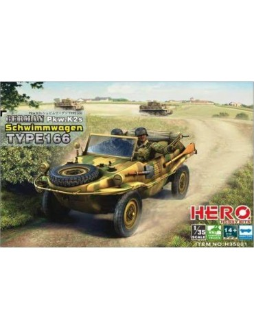 Hero Hobby Kits H35001 German Pkw.K2s Schwimmwagen Type 166 1/35