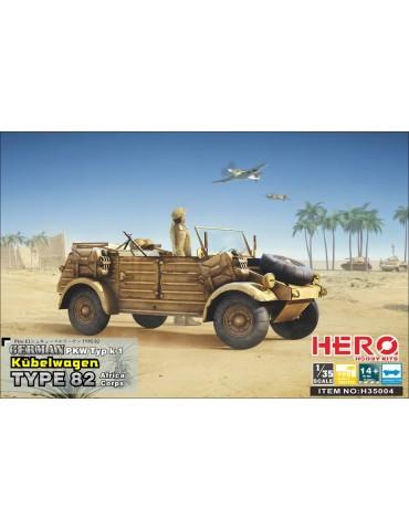 Hero Hobby Kits H35004 German PKW Typ k1 Kübelwagen Type 82 Africa corps 1/35