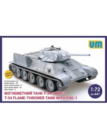 UM 441 Огнеметный танк Т-34...