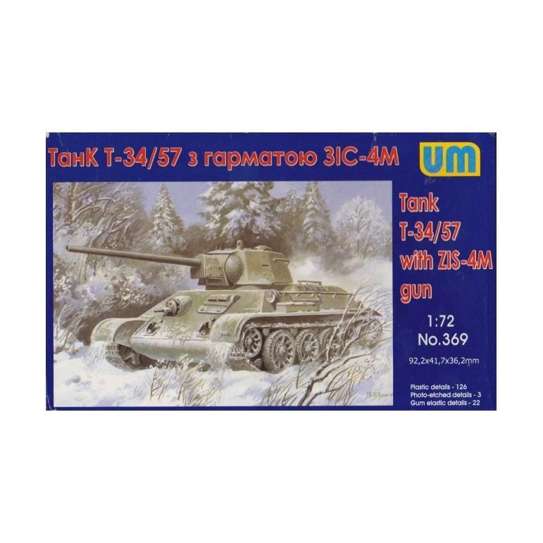 UM 369 Советский танк Т-34/57 с пушкой ЗИС-4М 1/72