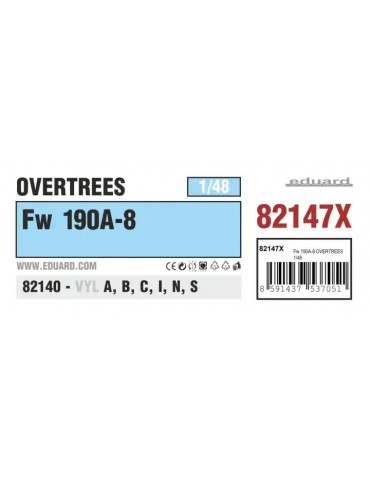 Eduard 82147X Fw 190A-8 Overtrees 1/48