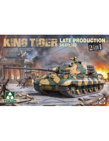 Takom 2130 Sd.Kfz.182 King Tiger Late Production 2 in 1 1/35