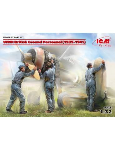 ICM 32107 Наземный персонал ВВС Великобритании II МВ (1939-1945) (3 фигуры) 1/32