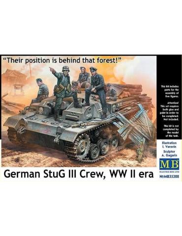 Master Box MB35208 Экипаж немецкого StuG III WWII «Их позиция позади того леса!» 1/35