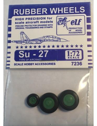 Elf 7236 Колеса на Су-27 1/72