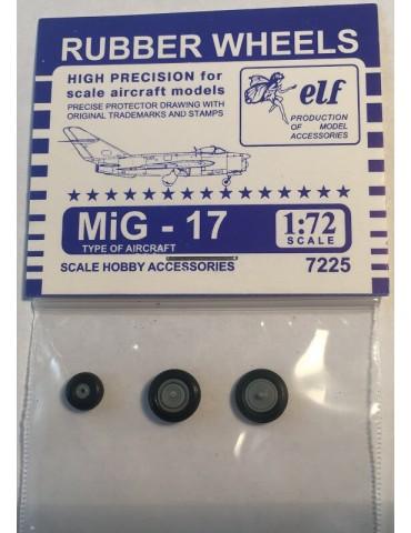 Elf 7225 Колеса на МиГ-17 1/72