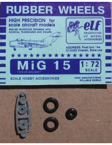 Elf 7224 Колеса на МиГ-15 1/72