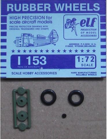 Elf 7214 Колеса на И-153 1/72