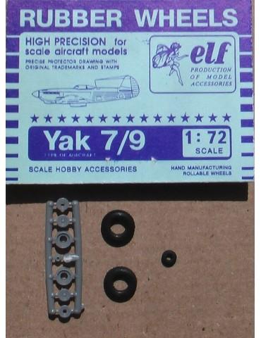 Elf 7210 Колеса на Як-7 1/72
