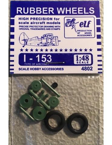 Elf 4802 Колеса на И-153 1/48