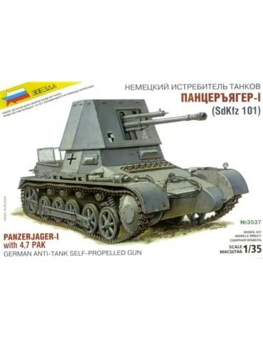 Звезда 3537 Panzerjager-1 with 4,7 PaK German Anti-Tank Self-Propelled Gun 1/35