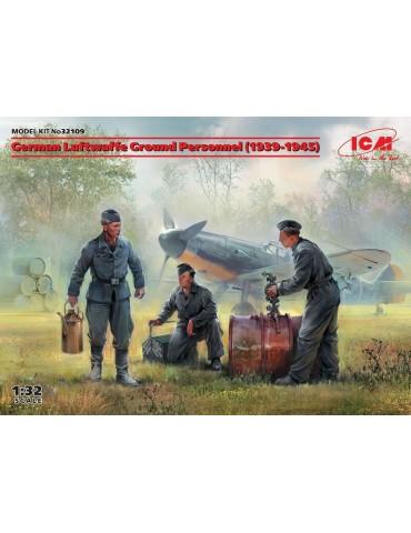 ICM 32109 Наземный персонал Люфтваффе (1939-1945) (3 фигуры) 1/32