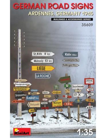 MiniArt 35609 Дорожные знаки WWII (Арденны, Германия) 1/35