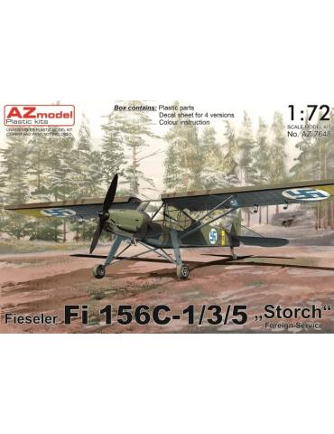 """AZ Model AZ7647 Fieseler Fi 156C-1/3/5 """"Storch"""" Foreign Service 1/72"""