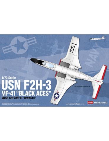 "Academy 12548 USN F2H-3 VF-41 ""Black Aces"" 1/72"