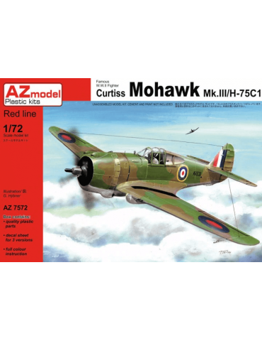AZ Model AZ7572 Curtiss Mohawk Mk.III/H-75C1 1/72