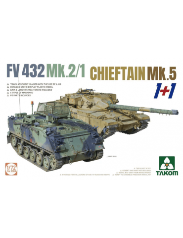 Takom 5008 FV432 Mk.2/1 Chieftain Mk. 5 1+1 1/72