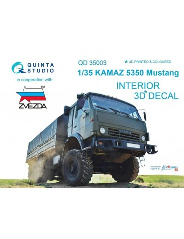 Quinta studio QD35003 3D Декаль интерьера кабины для семейства КАМАЗ 5350 Мустанг (для модели Звезда) 1/35