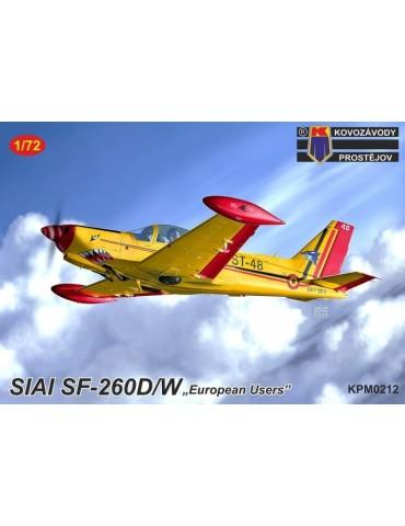"""KP Kovozavody Prostejov KPM0212 SIAI SF-260D/W """"European users"""" 1/72"""