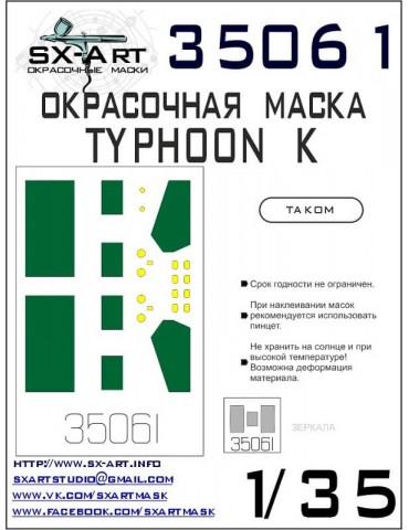 SX-Art 35061 Окрасочная маска Typhoon-K (Takom) 1/35