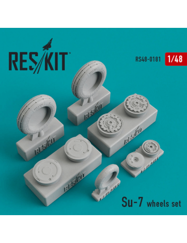 Res/Kit RS48-0181 Смоляные колеса на Су-7 1/48