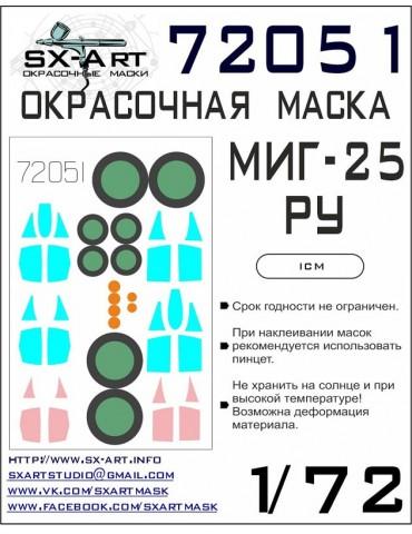 SX-Art 72051 Окрасочная маска Миг-25РУ (ICM) 1/72