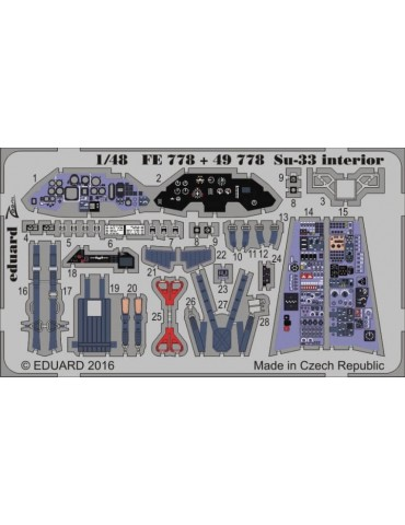Eduard 49778 Су-33 интерьер...